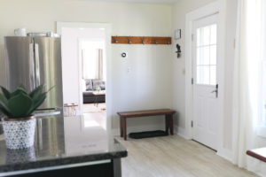 inviting entry in our updated ludlow Vermont vacation rental