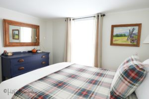 The Farm bedroom in #54 of the North House Lodge vacation rental